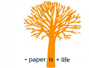 "Logo Green Company ""less paper is more life"""