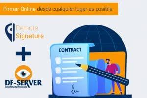 Firma de documentos Online desde DF-SERVER o desde la nube