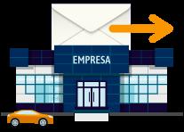 La empresa envía un correo o SMS con la documentación