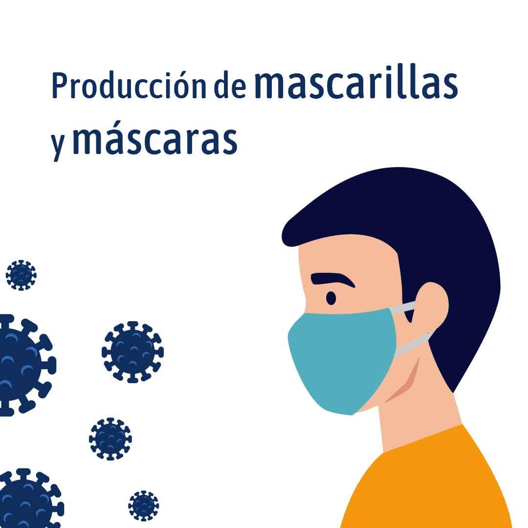 Producción de máscaras y mascarillas