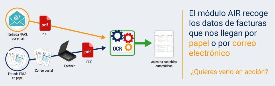 extraer datos de facturas en pdf con el modulo AIR